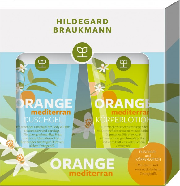 ORANGE mediterran Set Duschgel (150 ml) & Körperlotion (150 ml)